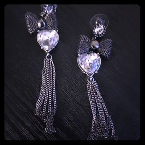 Betsey Johnson a heart earrings